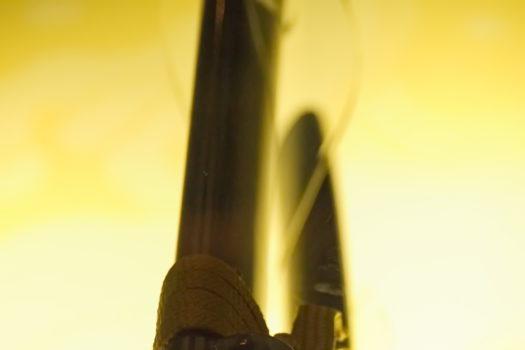 Dettaglio di una spada in mostra al villaggio giapponese di Ayutthaya