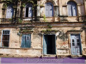 Facciata di un edificio della vecchia dogana