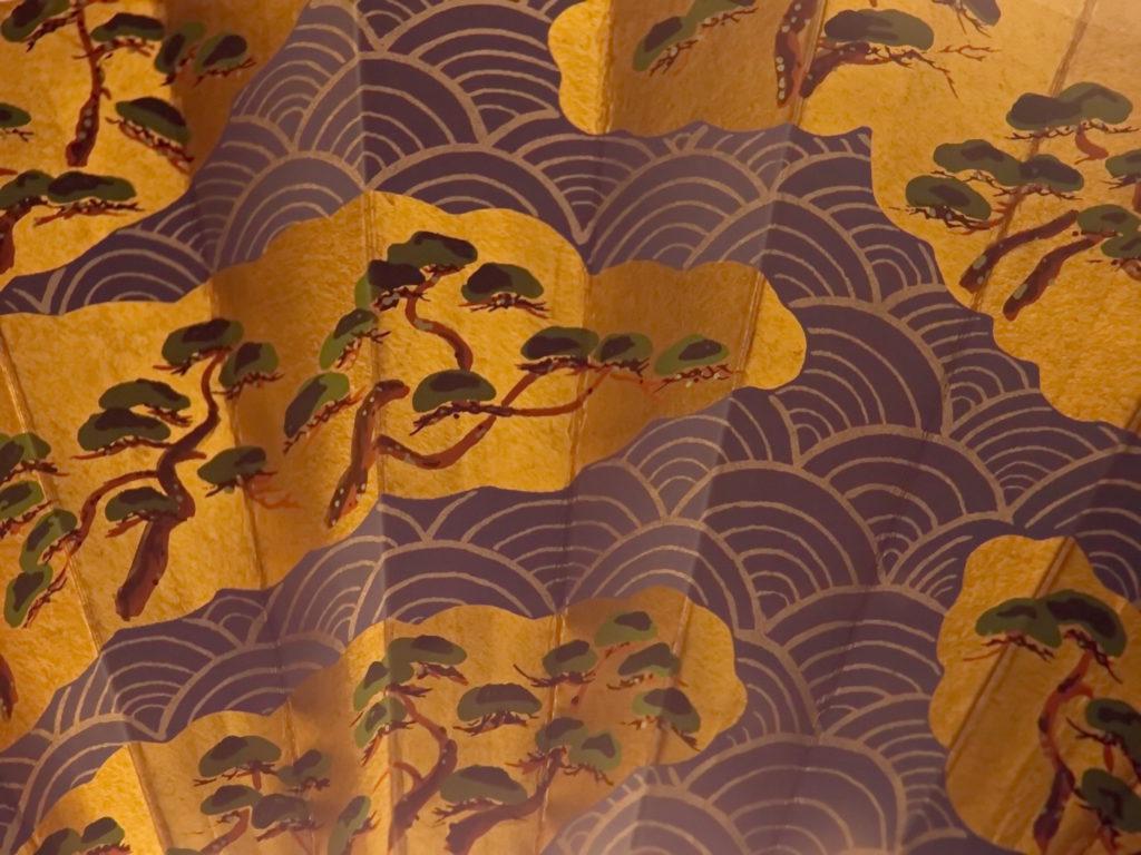 Particolare di ventaglio giapponese in esposizione